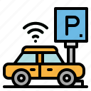 car, network, parking, transport, vehicle icon