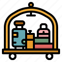 cart, hotel, luggage, trolley icon