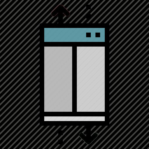 doors, elevator, furniture, household, lift icon