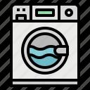 electric, furniture, laundry, machine, washing icon