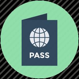 passport, travel id, travel pass, travel permit, visa icon