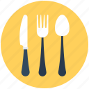 cutlery, fork, knife, spoon, utensil icon