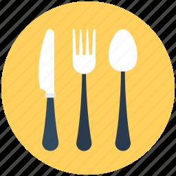 cutlery, fork, knife, spoon, utensil icon