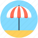 beach umbrella, canopy, parasol, sunshade, umbrella