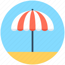 beach umbrella, canopy, parasol, sunshade, umbrella icon