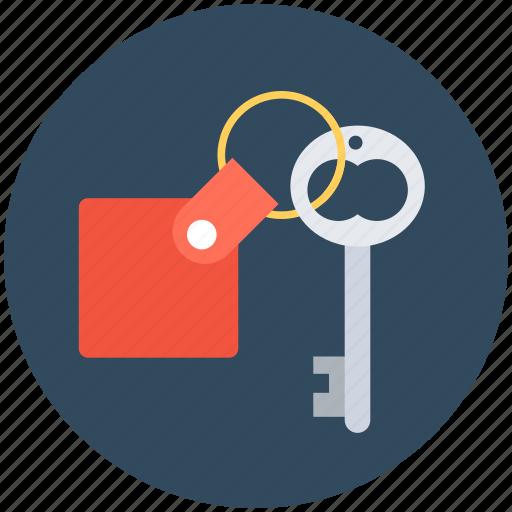 key, keychain, lock key, room key, security icon