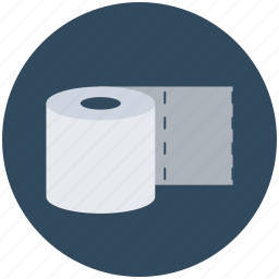 bathroom, paper roll, tissue paper, tissue roll, toilet paper icon