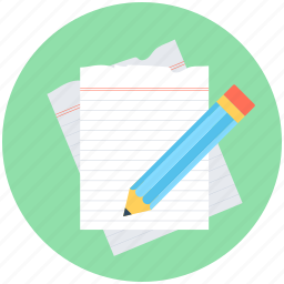 notes, paper, pencil, sheet, writing icon