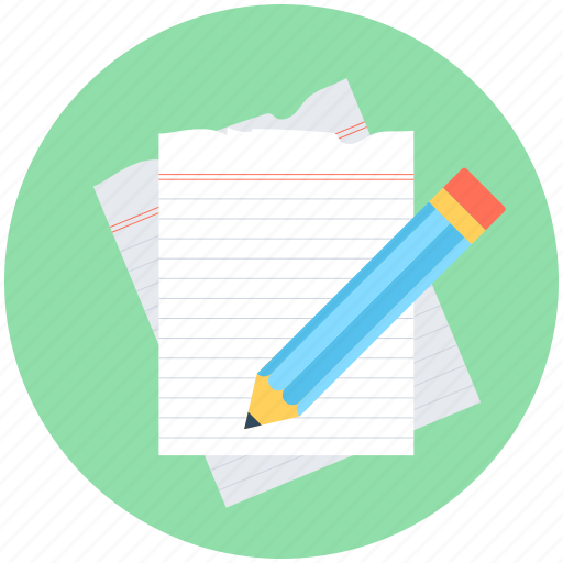 Notes, paper, pencil, sheet, writing icon | Icon search engine