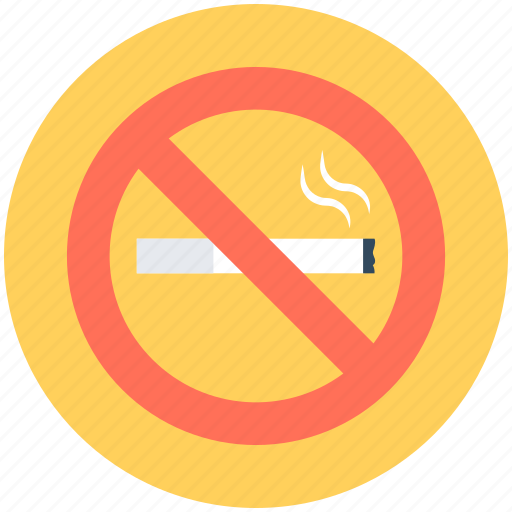 cigarette not allowed, cigarette restriction, no cigarette, no smoking, quit smoking icon
