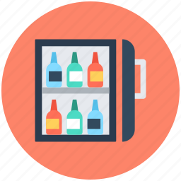 alcohol, champagne, wine bottles, wine chiller, wine cooler icon