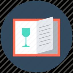 bar menu, cuisine menu, food menu, menu book, menu card icon