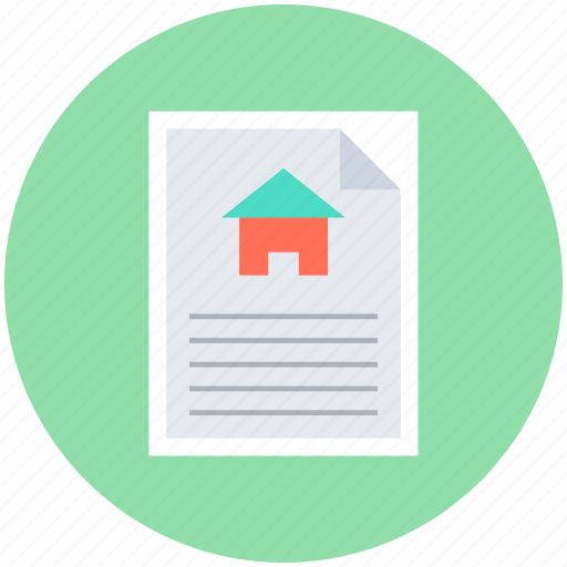 house contract, property contract, property document, property papers, real estate document icon