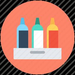 beer crate, beverage crate, bottles, bottles crate, wine bottles icon