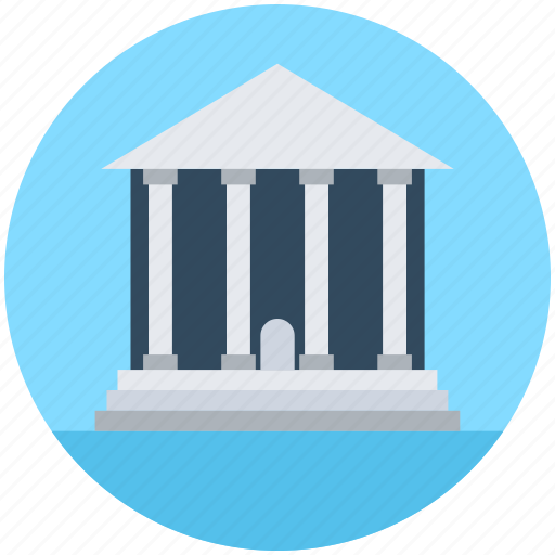 bank, building, court, museum, real estate icon