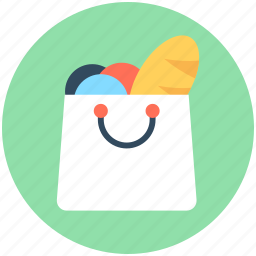 grocery shopping, shopper bag, shopping, shopping bag, supermarket bag icon