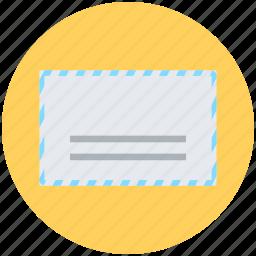 air mail, envelope, letter envelope, mail, post envelope icon