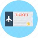 plane ticket, travelling pass, air ticket, airplane, travel ticket