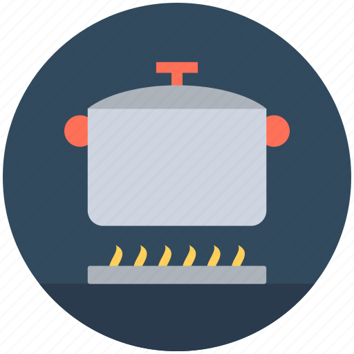 cooking, cooking on fire, cooking pot, lunch, meal preparation icon