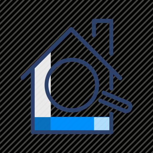 hotel, search, travel, venue icon