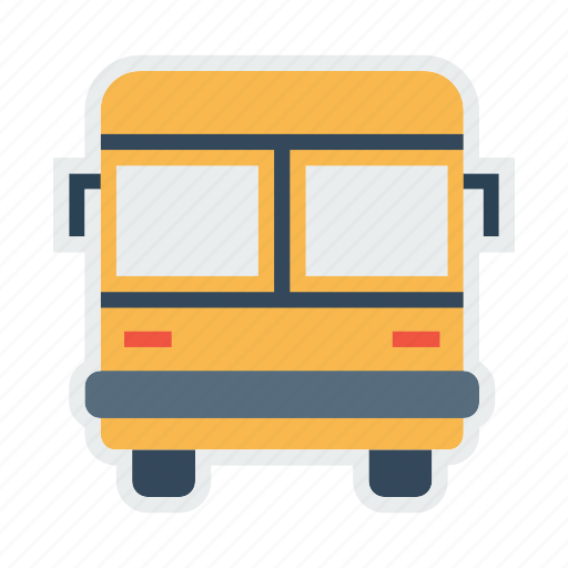 bus, public, school, transport, transportation, travel, vehicle icon