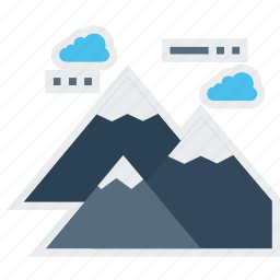climbing, hill, landscape, mountain, nature, station, tracking icon