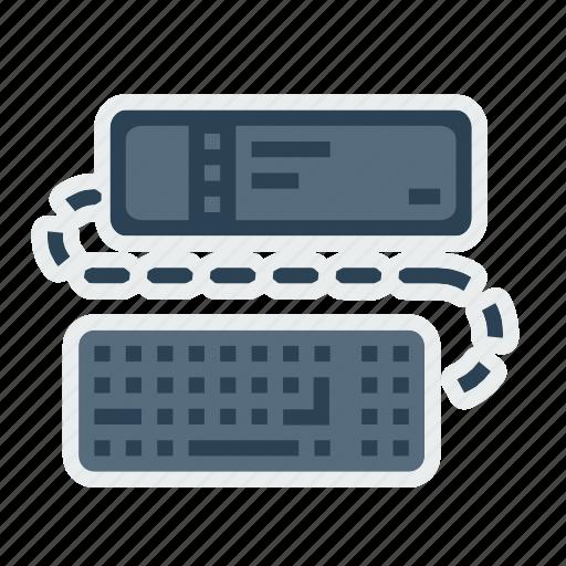 fun, keyboard, movie, projector, screen, view icon