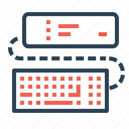 computer, device, frame, keyboard, picture, pin, projector icon