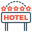building, five, hotel, lodge, luxury, ranking, star icon