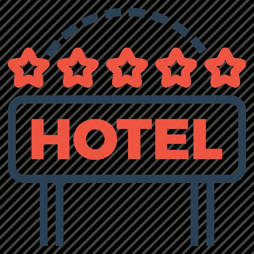 Building, ranking, star, hotel, five, luxury, lodge icon
