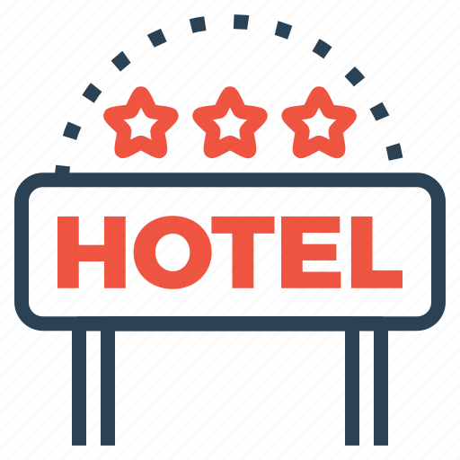 building, hotel, lodge, luxury, ranking, star, three icon