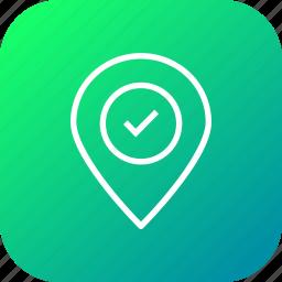 destination, gps, hotel, location, marker, pin, place icon