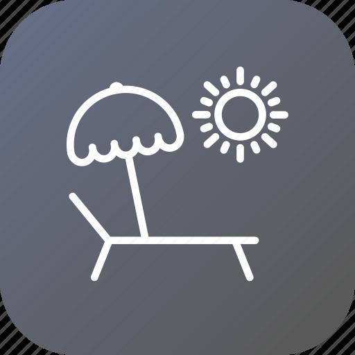 chill, chilling, pool, side, summer, swimming, umbrella icon