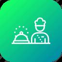 chef, cook, food, hotel, platter, restaurant, serve