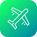 aircraft, airline, airplane, flight, holiday, plane, travel icon