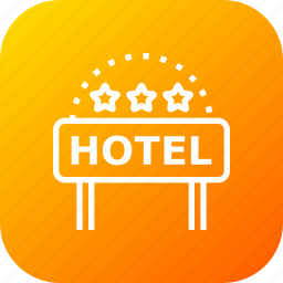 building, hotel, lodge, luxury, ranking, star, three icon