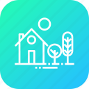 building, estate, garden, home, house, place, tree