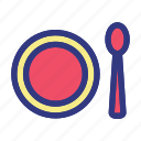 food, hotel, island, plate, trave, travelling, tropical icon