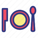 hotel, island, plate, trave, travelling, tropical icon