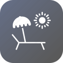 chill, chilling, pool, side, summer, swimming, umbrella icon