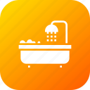 bath, bathing, bathroom, hotel, room, shower, tub icon