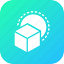 box, cube, design, fun, hotel, playing, restaurant icon