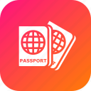 document, identity, luggage, passport, tourism, travel, visa icon