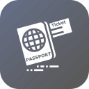 document, identity, passport, ticket, tourism, travel, visa icon