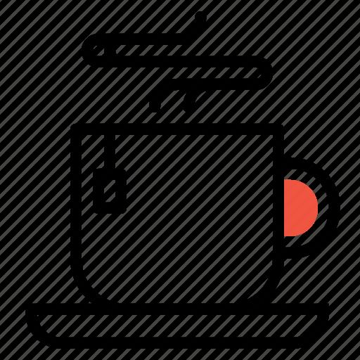 bag, coffee, cup, drink, hot, mug, tea icon