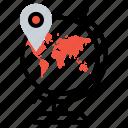 destination, earth, location, map, marker, pin, world