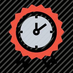 award, badge, leaderboard, medal, prize, reward, time icon