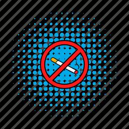 comics, forbidden, nicotine, no, smoking, stop, tobacco icon