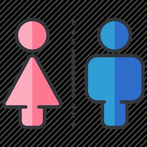 bathrooms, essentials, hotel, men, restrooms, women icon