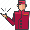 bell, bellboy, boy, essentials, hotel, service icon